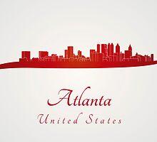 Atlanta skyline in red by paulrommer