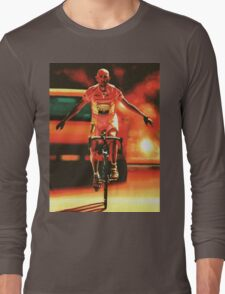 Marco Pantani Painting Long Sleeve T-Shirt