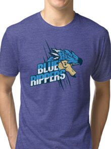 Monster Hunter All Stars - Blue Rippers [Subspecies] Tri-blend T-Shirt