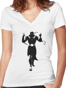 Mortal Kombat ERMAC Women's Fitted V-Neck T-Shirt