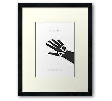 Bioshock Infinite Booker DeWitt Minimalist Poster Framed Print