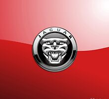 Jaguar new 3D Badge-Logo on Red by Captain7