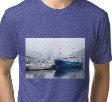 Boats in Tromso Tri-blend T-Shirt