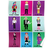 8-Bit Fashion Icons Poster