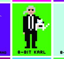 8-Bit Fashion Icons Sticker
