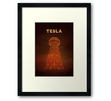 Tesla Tower Framed Print