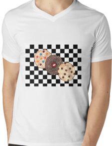 Eat Cookies Mens V-Neck T-Shirt