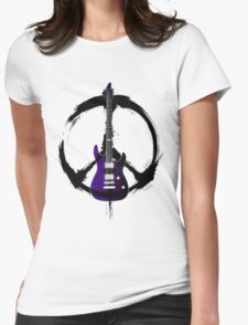 Peace Music Guitar Womens Fitted T-Shirt