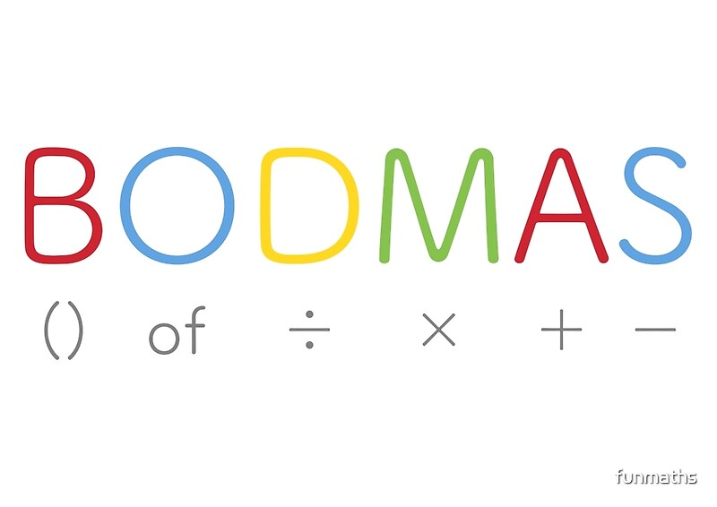 bodmas   math rules posters by funmaths redbubble
