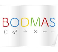 BODMAS - Math Rules Poster
