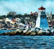 Lunenberg Lighthouse by Terry  Pellmar