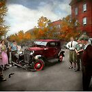 Car - Accident - Late for tee time 1932 by Mike  Savad