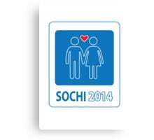 Sochi Love Games 2014 Canvas Print