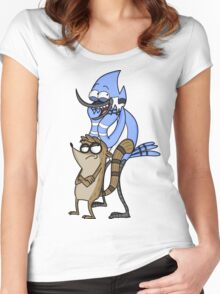 Regular Show Bros Women's Fitted Scoop T-Shirt