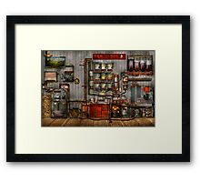 Steampunk - Coffee - The company coffee maker Framed Print
