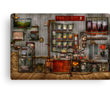 Steampunk - Coffee - The company coffee maker Canvas Print