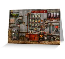 Steampunk - Coffee - The company coffee maker Greeting Card