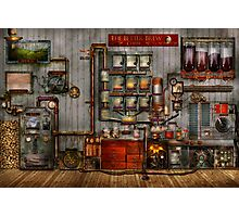 Steampunk - Coffee - The company coffee maker Photographic Print