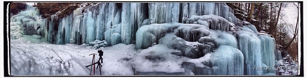 Wall of Ice at Ozone Falls by Aaron Campbell