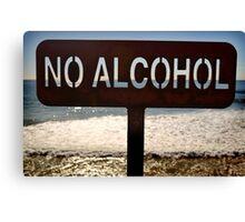 No Alcohol Canvas Print