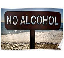 No Alcohol Poster