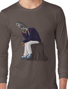 The Thinker - Retro Geek Chic Long Sleeve T-Shirt