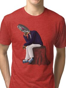 The Thinker - Retro Geek Chic Tri-blend T-Shirt
