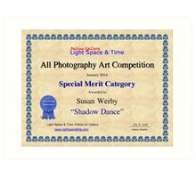Special Merit-All Photography-Shadow Dance Art Print