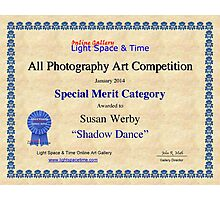 Special Merit-All Photography-Shadow Dance Photographic Print