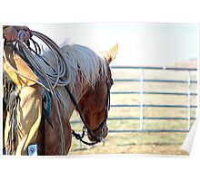 Palomino Mare at Work Poster
