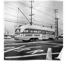 Vintage Streetcar Trolley 3093 Poster