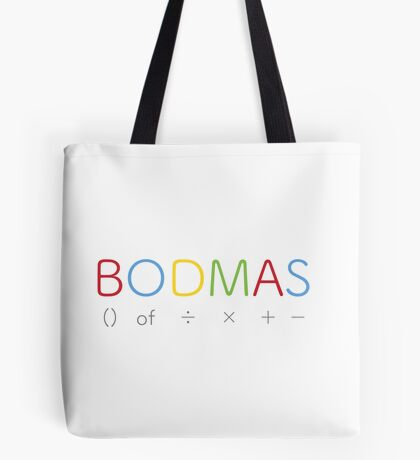 BODMAS - Math Rules Tote Bag