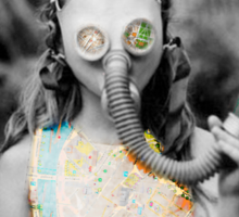 gas : girl Sticker