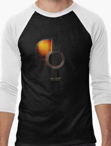 Colour Acoustic Guitar Hi-Lite Men's Baseball ¾ T-Shirt
