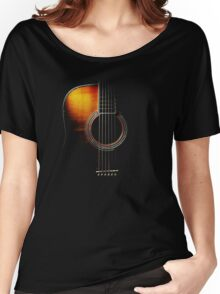 Colour Acoustic Guitar Hi-Lite Women's Relaxed Fit T-Shirt