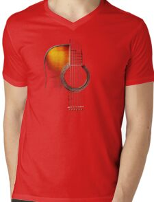 Colour Acoustic Guitar Hi-Lite Mens V-Neck T-Shirt