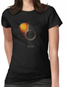 Colour Acoustic Guitar Hi-Lite Womens Fitted T-Shirt