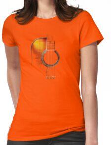 Colour Acoustic Guitar Hi-Lite Womens Fitted T-Shirt