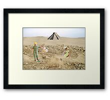 Definitely dated but not quite as important..... Ted and Ruth discover the ancient Mayan colander. Framed Print