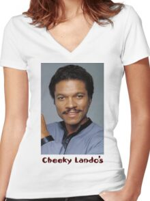 Cheeky Lando's Women's Fitted V-Neck T-Shirt
