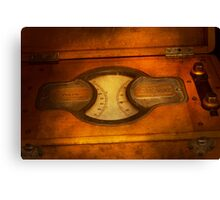 Steampunk - Electrician - The portable volt meter Canvas Print