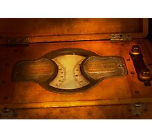 Steampunk - Electrician - The portable volt meter Photographic Print