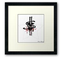 BLOOD MONEY SKULL Framed Print
