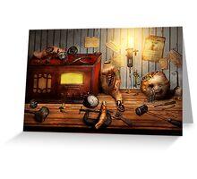 Steampunk - Repairing a friendship Greeting Card