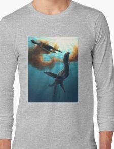 Krill feeding plesiosaurs Long Sleeve T-Shirt