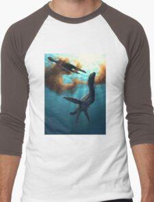 Krill feeding plesiosaurs Men's Baseball ¾ T-Shirt