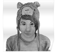Pencil Sketch - danisnotonfire Poster