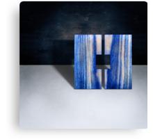Blue Square Split Canvas Print