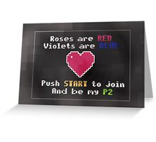 Video Game Love Greeting Card
