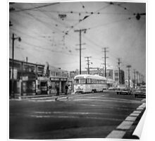 Vintage Streetcar Trolley 4110 Poster